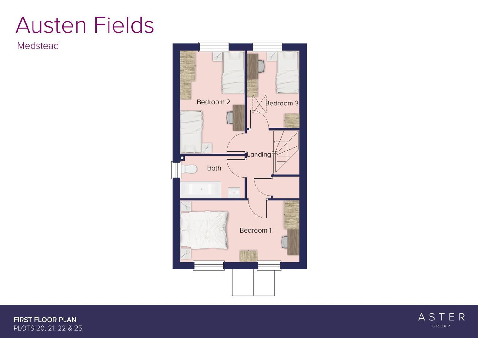 Austen Fields, Medstead_Plots 20, 21, 22 & 25_FF_F